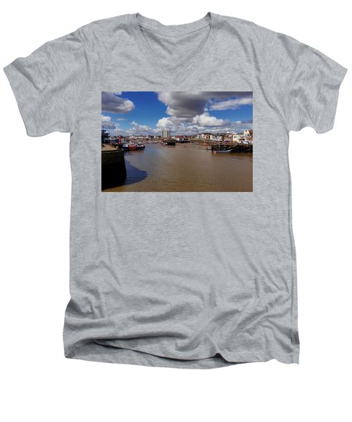 Bridlington Harbour Men's V-Neck T-Shirt