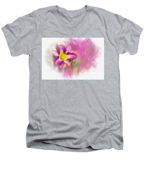Bright Lily Men's V-Neck T-Shirt