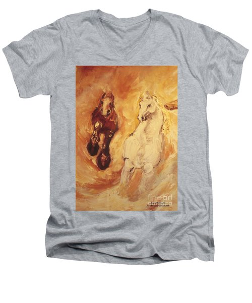 Bringers Of The Dawn Section Of Mural Men's V-Neck T-Shirt