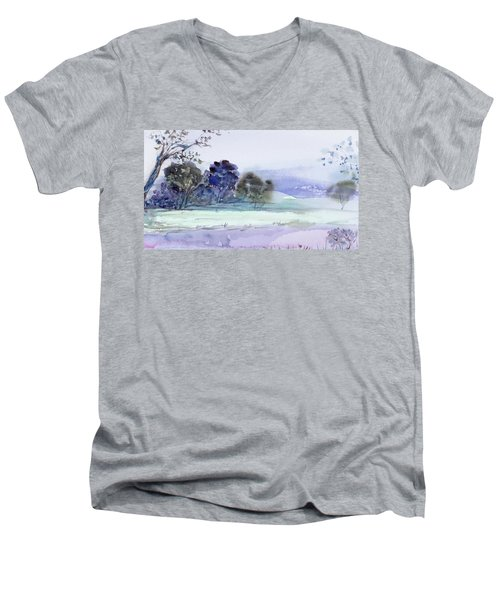 Bruny Island At Dusk Men's V-Neck T-Shirt