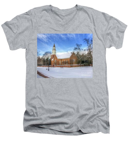 Bruton Parish In Winter II Men's V-Neck T-Shirt