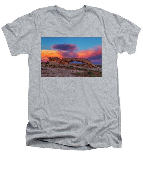 Burning Skies Men's V-Neck T-Shirt