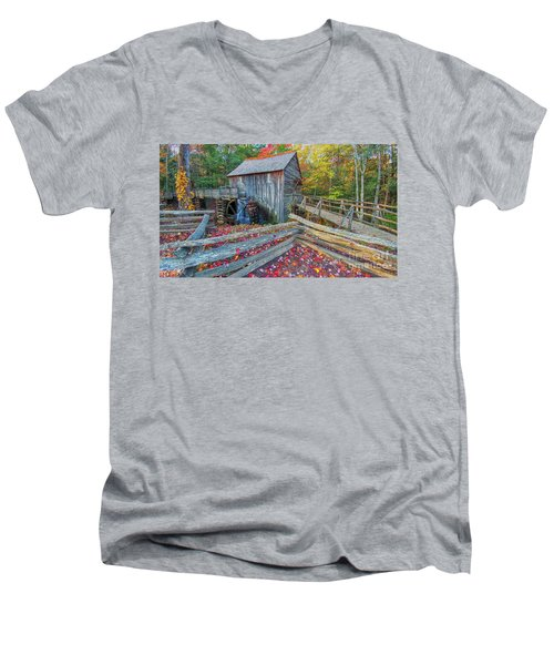 Cable Mill Men's V-Neck T-Shirt by Geraldine DeBoer