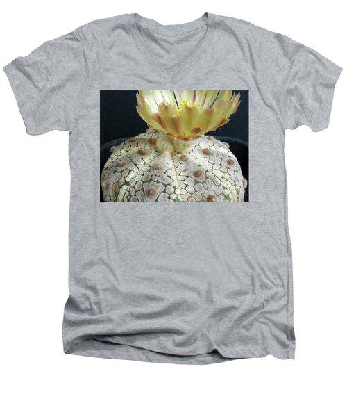 Cactus Flower 1 Men's V-Neck T-Shirt by Selena Boron