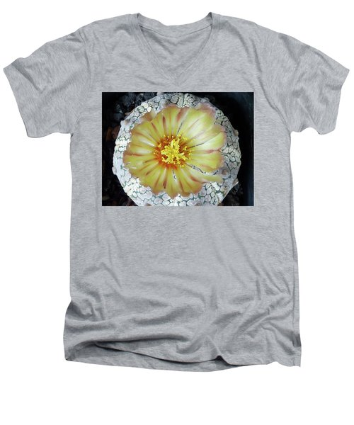 Cactus Flower 2 Men's V-Neck T-Shirt by Selena Boron