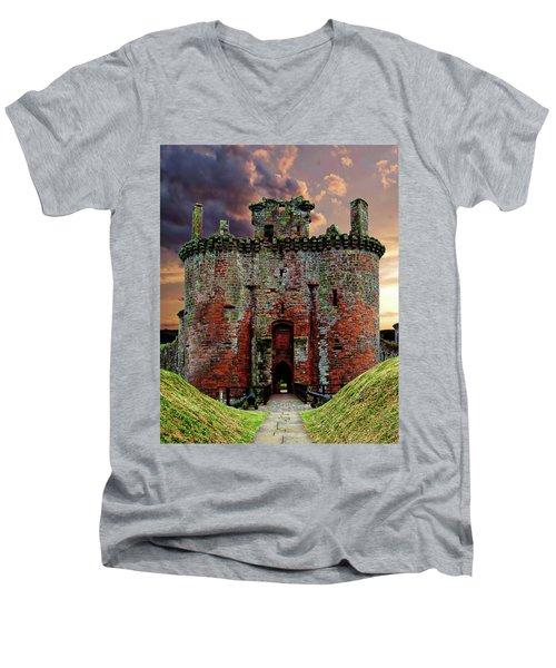 Caerlaverock Castle Men's V-Neck T-Shirt