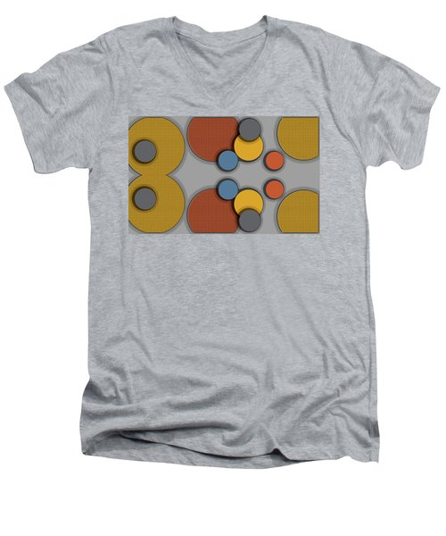 Colorful Circles Men's V-Neck T-Shirt