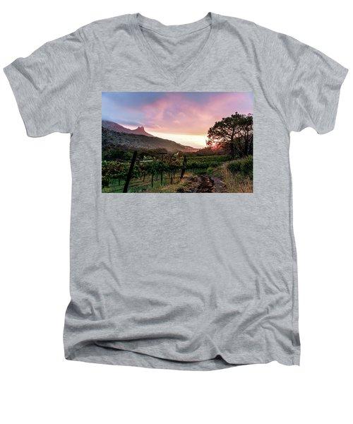 Colibri Sunrise Men's V-Neck T-Shirt