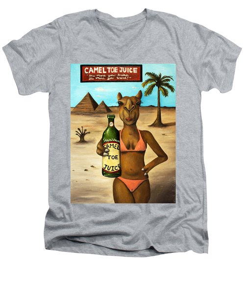 Camel Toe Juice Men's V-Neck T-Shirt by Leah Saulnier The Painting Maniac