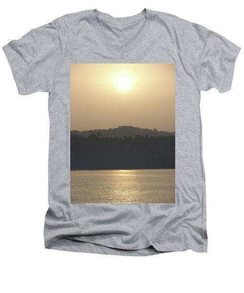 Cameroon Sunrise Africa Men's V-Neck T-Shirt