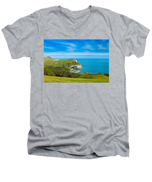 Cape Farewell Able Tasman National Park Men's V-Neck T-Shirt