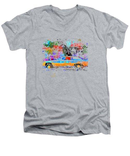 Car T-shirt Men's V-Neck T-Shirt