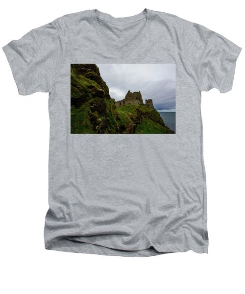Castle By The Sea Men's V-Neck T-Shirt