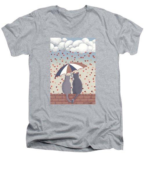 Cats In Love Men's V-Neck T-Shirt