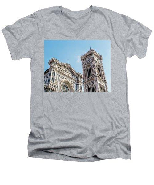 Cattedrale Di Santa Maria Del Fiore Is The Main Church Of Floren Men's V-Neck T-Shirt