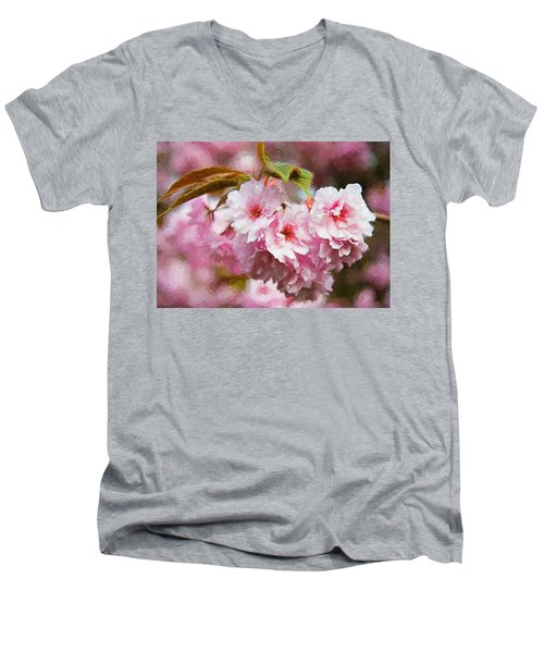 Cherry Blossom Men's V-Neck T-Shirt