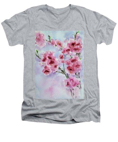 Cherry Blossoms Men's V-Neck T-Shirt