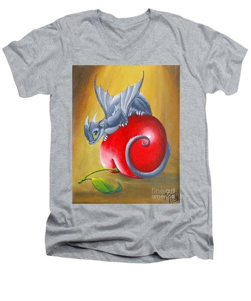 Cherry Dragon Men's V-Neck T-Shirt