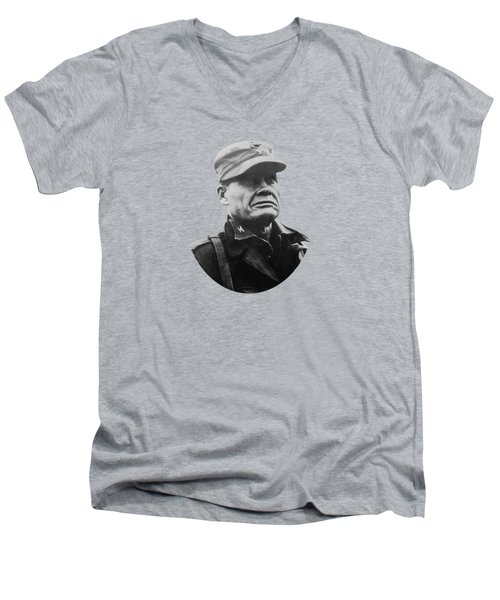 Chesty Puller Men's V-Neck T-Shirt by War Is Hell Store