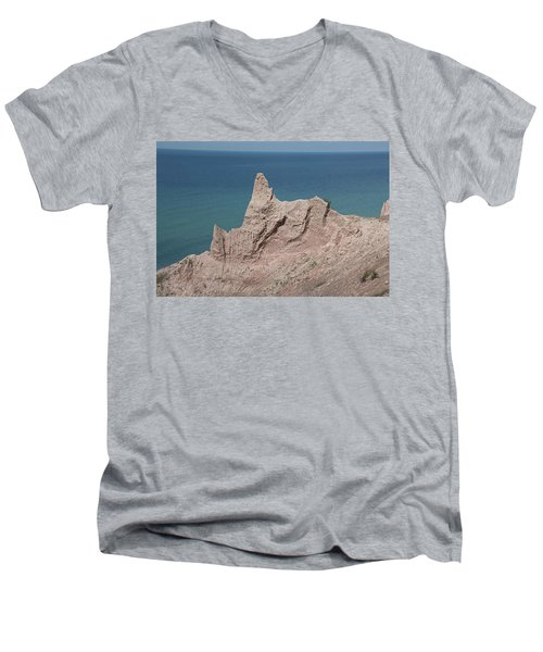 Chimney Bluffs Men's V-Neck T-Shirt
