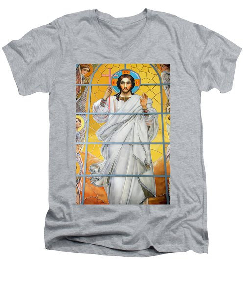Christ The Redeemer Men's V-Neck T-Shirt