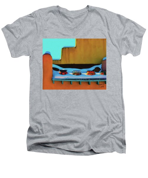 Christmas Morning Taos Men's V-Neck T-Shirt