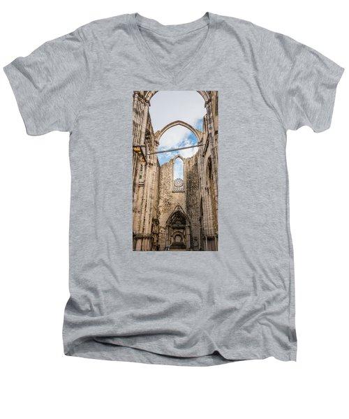 Church At Carmo Convent Men's V-Neck T-Shirt