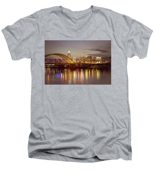 Cincinnati Men's V-Neck T-Shirt by Scott Meyer