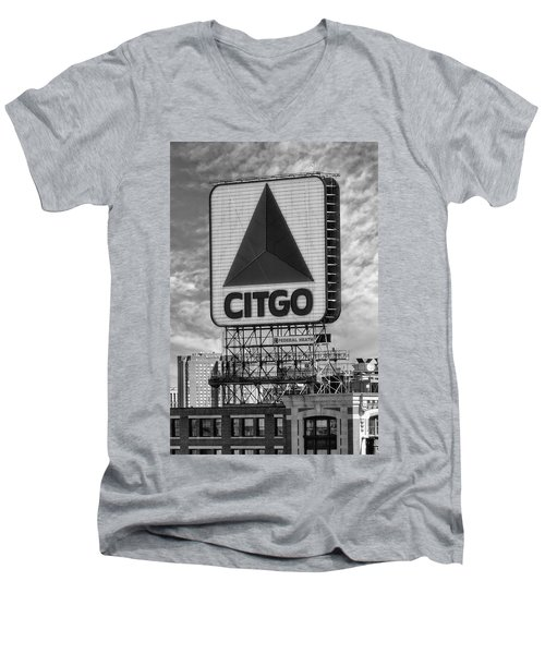 Citgo Sign Kenmore Square Boston Men's V-Neck T-Shirt