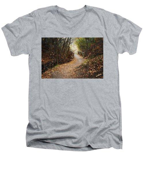 City Creek Bridge Men's V-Neck T-Shirt