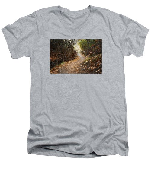 City Creek Bridge Men's V-Neck T-Shirt