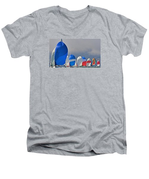 City Spinnakers Men's V-Neck T-Shirt