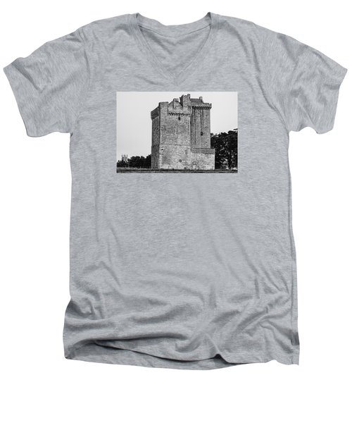 Clackmannan Tower Men's V-Neck T-Shirt by Jeremy Lavender Photography