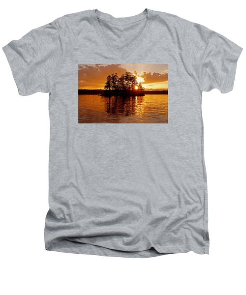Men's V-Neck T-Shirt featuring the photograph Clarity Of Spirit by Lynda Lehmann
