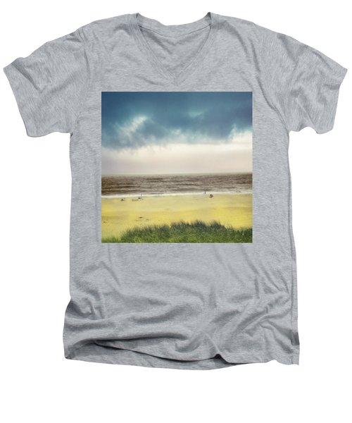 Clearing Storm Montauk Men's V-Neck T-Shirt