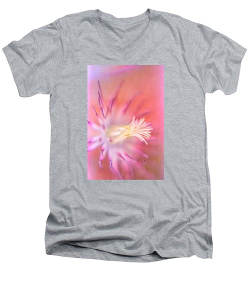 Clematis Men's V-Neck T-Shirt by Bonnie Bruno