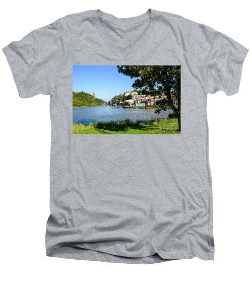 Clifton Suspenion Bridge Men's V-Neck T-Shirt