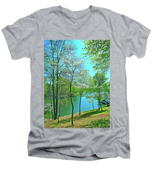 Cluster Of Dowood Trees Men's V-Neck T-Shirt