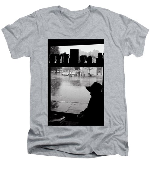 Coffee In The Rain Men's V-Neck T-Shirt