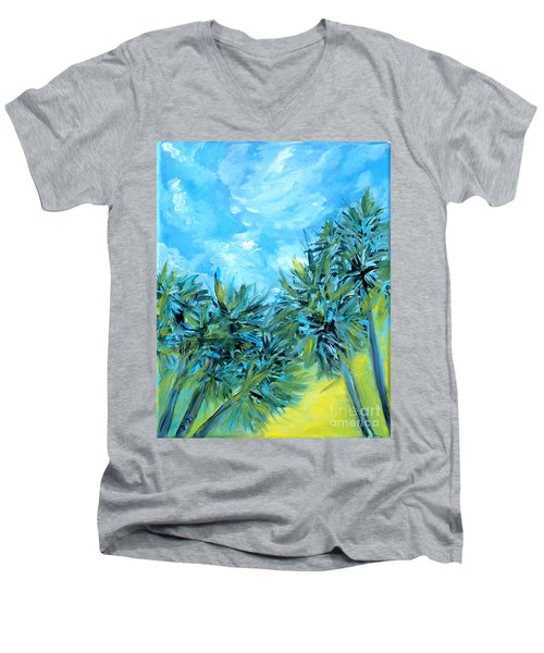 Collection Art  For Health And Life. Painting 10  Men's V-Neck T-Shirt