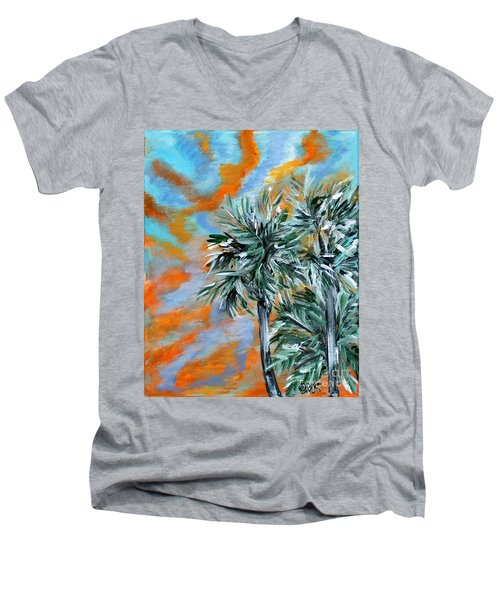 Collection. Art For Health And Life. Painting 2 Men's V-Neck T-Shirt