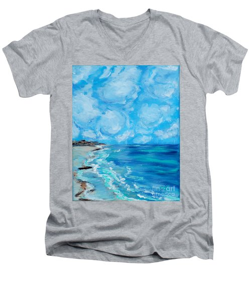 Collection. Art For Health And Life. Painting 4 Men's V-Neck T-Shirt