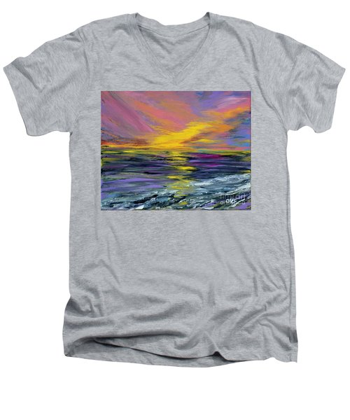 Collection Art For Health And Life. Painting 8 Men's V-Neck T-Shirt