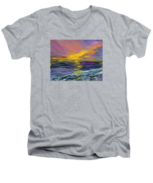 Collection Art For Health And Life. Painting 8 Men's V-Neck T-Shirt by Oksana Semenchenko