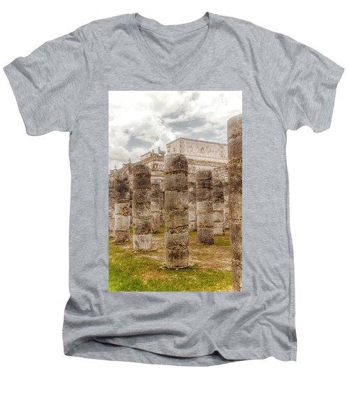 Colomnade Of Warriors Men's V-Neck T-Shirt