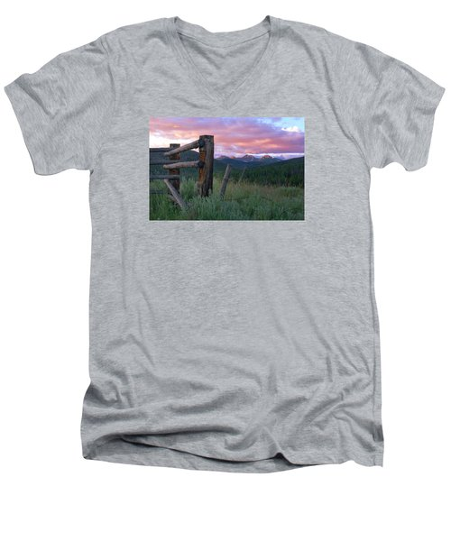 Colorado Glory Men's V-Neck T-Shirt by Ronda Kimbrow
