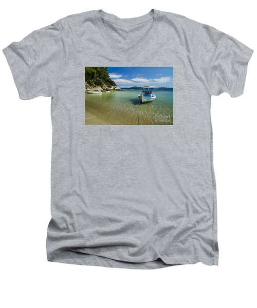 Colorful Boat Men's V-Neck T-Shirt