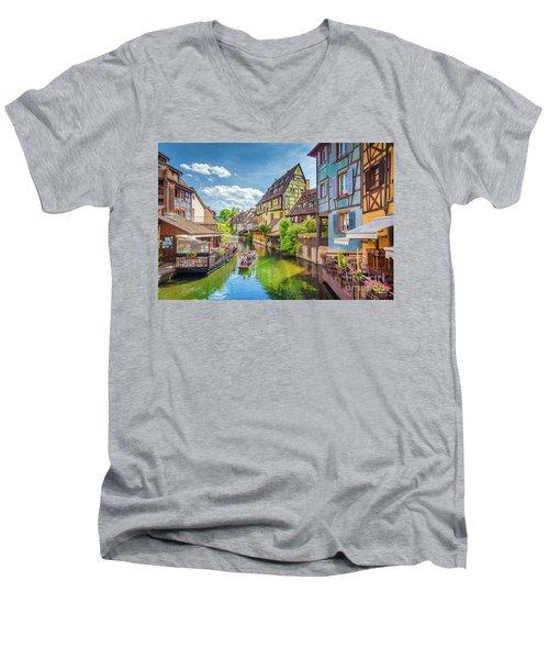 Colorful Colmar Men's V-Neck T-Shirt by JR Photography