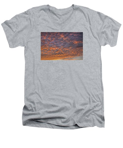 Men's V-Neck T-Shirt featuring the photograph Colorful by Wanda Krack