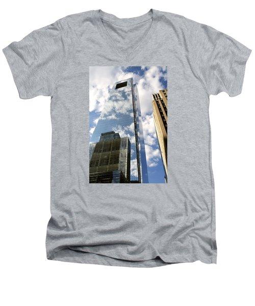 Comcast Center Men's V-Neck T-Shirt by Christopher Woods